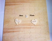 Wooden Puzzle xxl 90-100 pcs. customized wedding guest book
