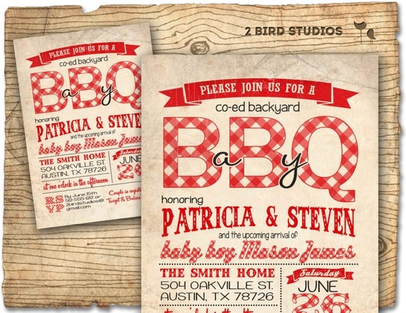 bbq baby shower invitation baby q baby shower coed couples baby