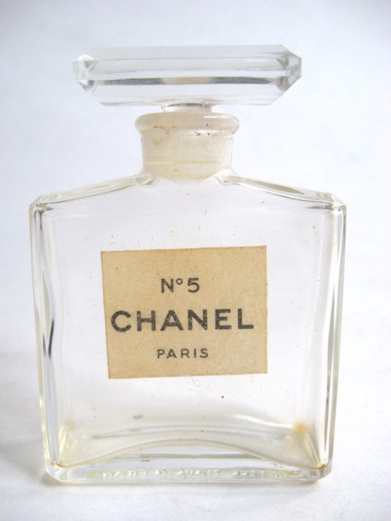 Vintage 1920s Chanel No 5 Paris French Crystal Glass Perfume