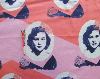 Melody Miller Ruby Star Polka Dot Self Portrait Color A -  One Yard Panel