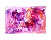 Abstract original watercolor painting Contemporary wall art Modern painting