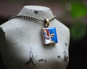Angel Giotto Scrabble Tile Resin Necklace