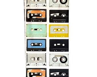classic cassette tape Infinity Scarf s3-3 handmade