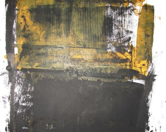 """Abstract Minimal  No.0183  Ink & Acrylic on Paper 24x18"""" Modern Industrial"""