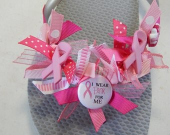 LADIES BREAST CANCER---Flip Flops