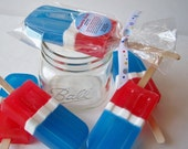 "Popsicle Soap, Watermelon Scent"" 4th July, Memorial Day, Birthday Favors, Shower Favors, Wedding Favor, Glycerin Soap, ACOFT, OFG Team,"