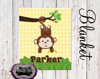 Personalized Monkey Blanket