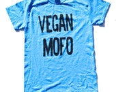 Vegan Mofo Shirt, Vegan Shirt, Vegan Tee, Vegan tshirt, Vegan month of food, T-Shirt, Level Apparel