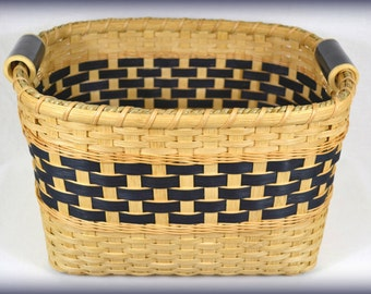 "BASKET PATTERN ""Jaclyn"" Storage Bin or Shelf Basket for Pantry or Closet Organization"
