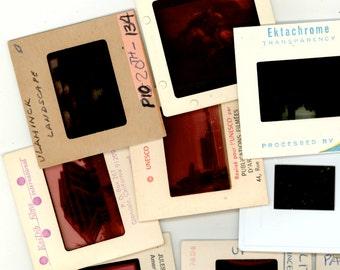 Lot of 100 Vintage Photograph Slides, Assorted Subjects, Art, Family Vacations, Vintage Film Slides, 35 MM Color, Kodachrome Kodak