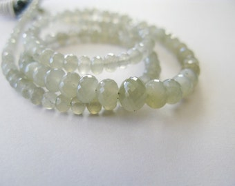 Gray Moonstone Rondelles, AAA, 3.25-5mm, 8 Inches, aaagems, Half Strand