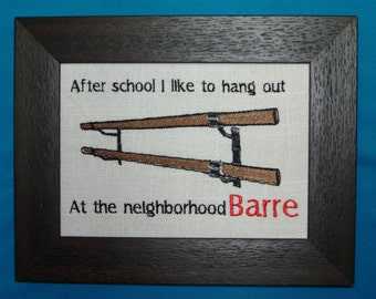 Perfect gift for the Dancer in your life who loves to hang out at the ballet barre!