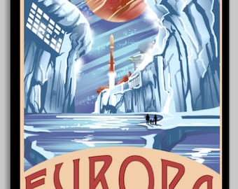 Europa Space Poster