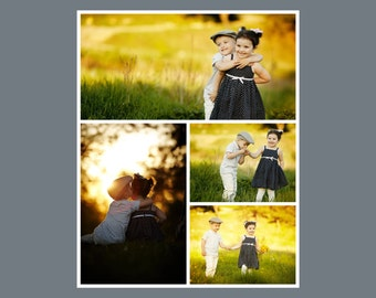 16 x 20 Digital Photo Collage Storyboard / Blog Board Template - 1