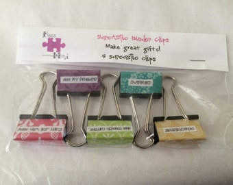 Sarcastic Themed Binder Clips
