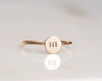 Customizable 14k gold fill initial ring