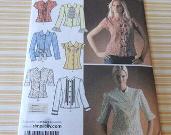 Simplicity 4077 Blouse pattern Uncut sizes 6 to 14