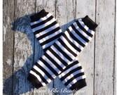 Black and White Striped Leg Warmers. Birthdays, photo props costumes. Leggings legwarmers