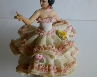 Dresden Lace Spanish Dancer Figurine