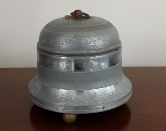 Vintage Victorian Powder and Puff Holder with Music Box [L12]