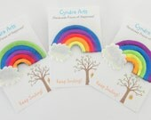 Pretty Rainbows! Handcrafted and so colourful.