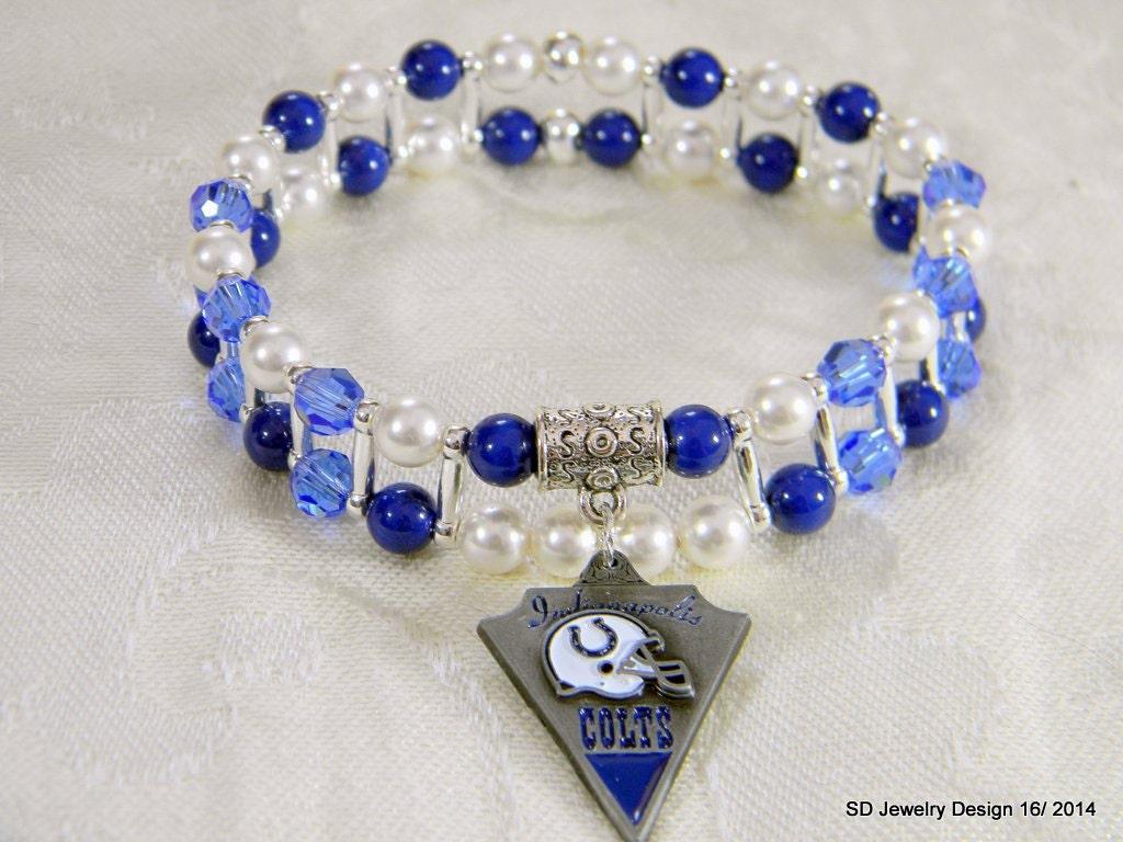 nfl indianapolis colts charm stretch bracelet
