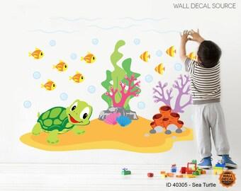 Sea Animals  Wall Decals - Ocean Wall Decals - Sea Animal Decals