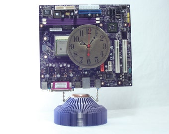Purple Motherboard Desk Clock, Geekery, Clocks by DanO
