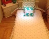 "Chevron Design American Girl Doll or 18"" Doll Bedding Set"