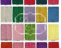 "8"" Crochet Tutu Tops Headbands Waistbands 5.5 - 6 X 8 Inch You Choose Colors"
