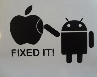 Fixed It Android Apple Toshiba Dell Inspiron Decal MacBook Pro Air PC Laptop Decal Sticker PC Acer HP Chromebook Transformer Thinkpad Tablet
