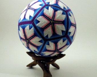 """Japanese Temari Ball - Sakura, Cherry Blossom, Design (4 13/16"""")"""
