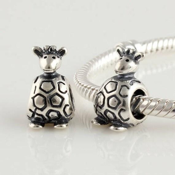100 925 sterling silver thread animal giraffe charm by