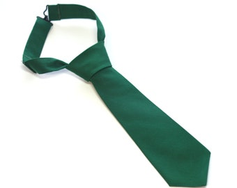 Green Neck Tie With Adjustable Strap