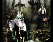 Lord and Lady of the Green Woods - original poster by L.O.Hennig & Lilipily Spirit