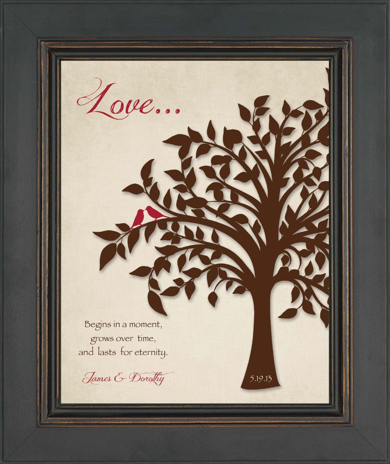 Perfect Wedding Gift Ideas: Custom Wedding Gift Or Anniversary Gift For Couple 8x10
