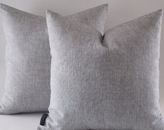 Grey Linen Pillow, Decorative Throw Pillow, Modern Pillow, Grey Linen Pillow, Pillow Cover
