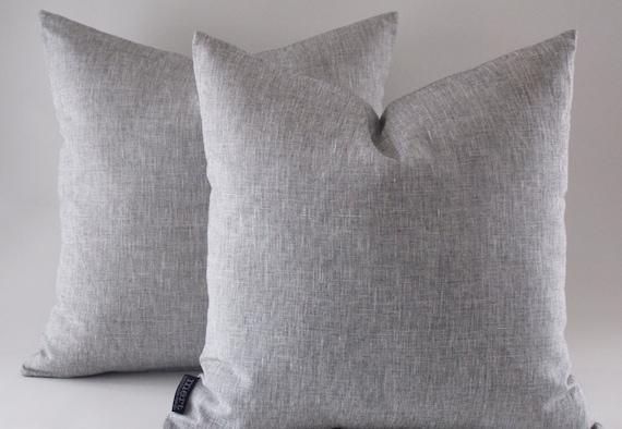 Grey Linen Throw Pillow : Grey Linen Pillow Decorative Throw Pillow Modern Pillow