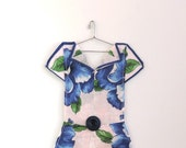 Hanky Dress made from Blue Pansy Handkerchief - HankyDresses