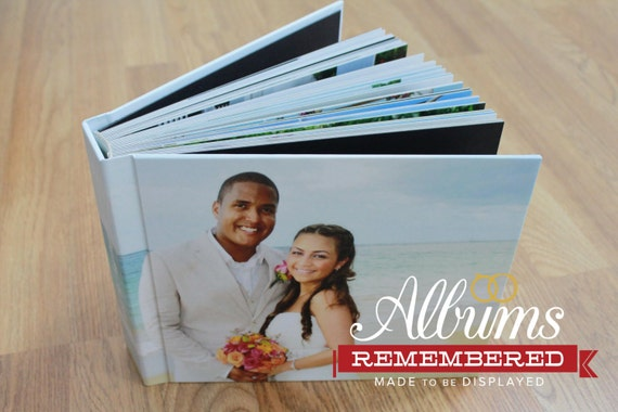Personalized Wedding Photo Album/ 8X10 Photo cover flush mount wedding abum 30pages- Albums Remembered