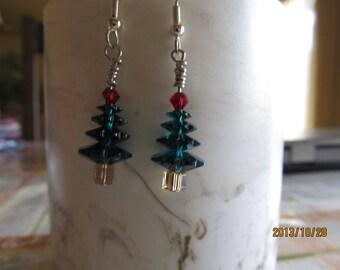 Swarovski Crystal Cristmas Tree earrings