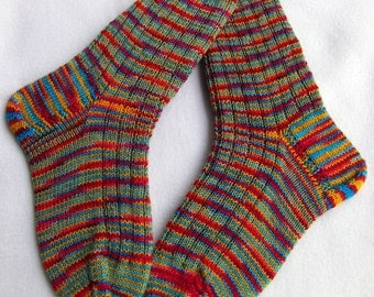 Hand Knit Socks  for Women UK 5-7, US 7-9  Nr. 13