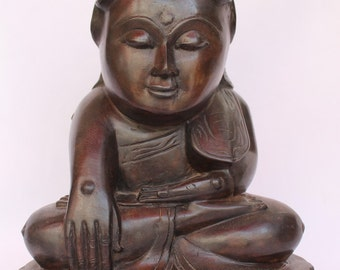 Antique Burmese Myanmar Bronze Buddha Statue 18th Century Burma (Shan Buddha)