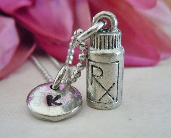 Perscription bottle necklace pill bottle rx by for Pill bottle jewelry