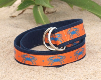 Maryland Blue Crabs /Maryland Belt / Canvas Belt / Boys Belt