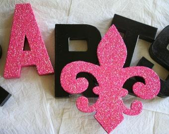 PARIS Glittered Letters, Fleur De Lis, Home Decor, Party Theme