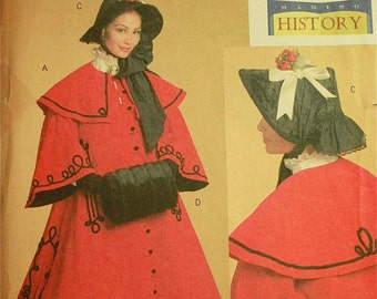 Victorian Costume by Nancy Farris-Thee - Butterick Making History Pattern 5266  Uncut   Sizes 8-10-12-14  Bust 31.5-32.5-34-36""