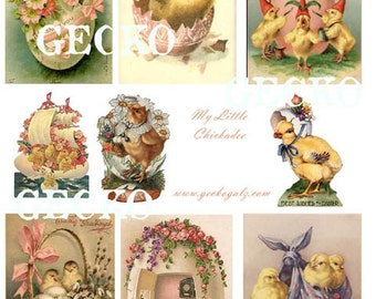 My Little Chick-A-Dee Digital Collage Sheet
