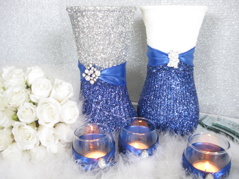 Items Similar To Wedding Decorations Silver Centerpiece Military Wedding Weddings