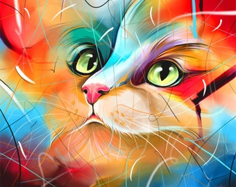 Limited Edition Giclée Print from my Painting - CatMasters-27